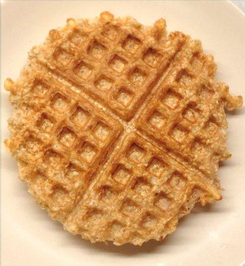 Oatmeal waffle-plain