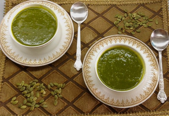 Pumpkin Kale Soup 2 bowls