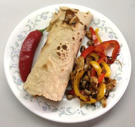 Burrito top-view