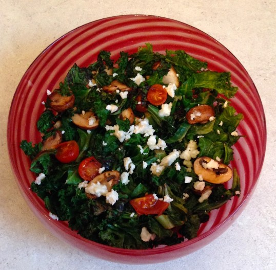 Warm Kale & Feta Salad (2)