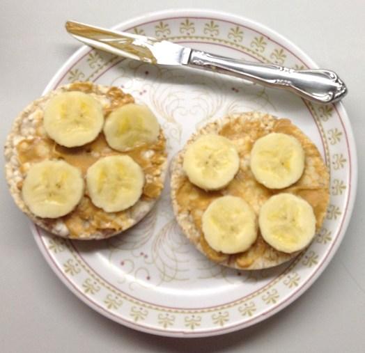 PB & Banana Rice Cakes