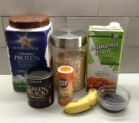 Salted Chocolate Protein Smoothie Ingredients