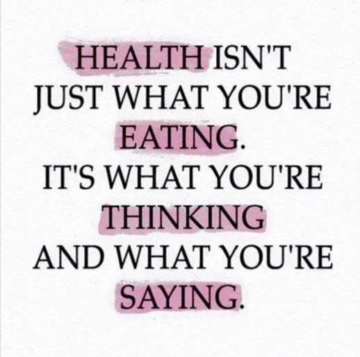 Health, eating, saying