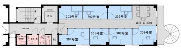 綾小路オフィス3F-平面図