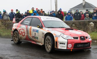 Garry Jennings/Rory Kennedy (Subaru WRC) Mayo Rally winners.  Photo: Martin Walsh.