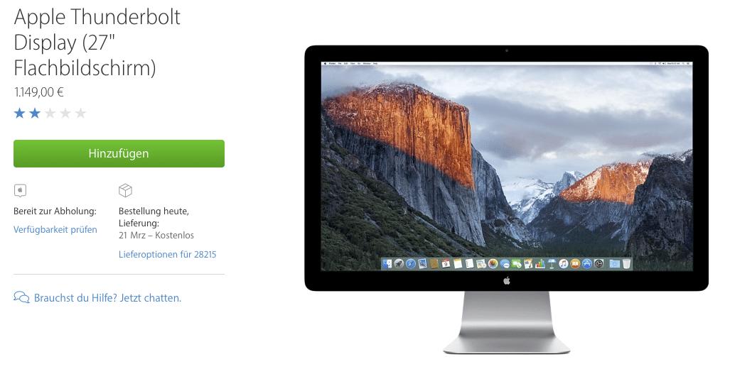 Apple Thunderboldt Display