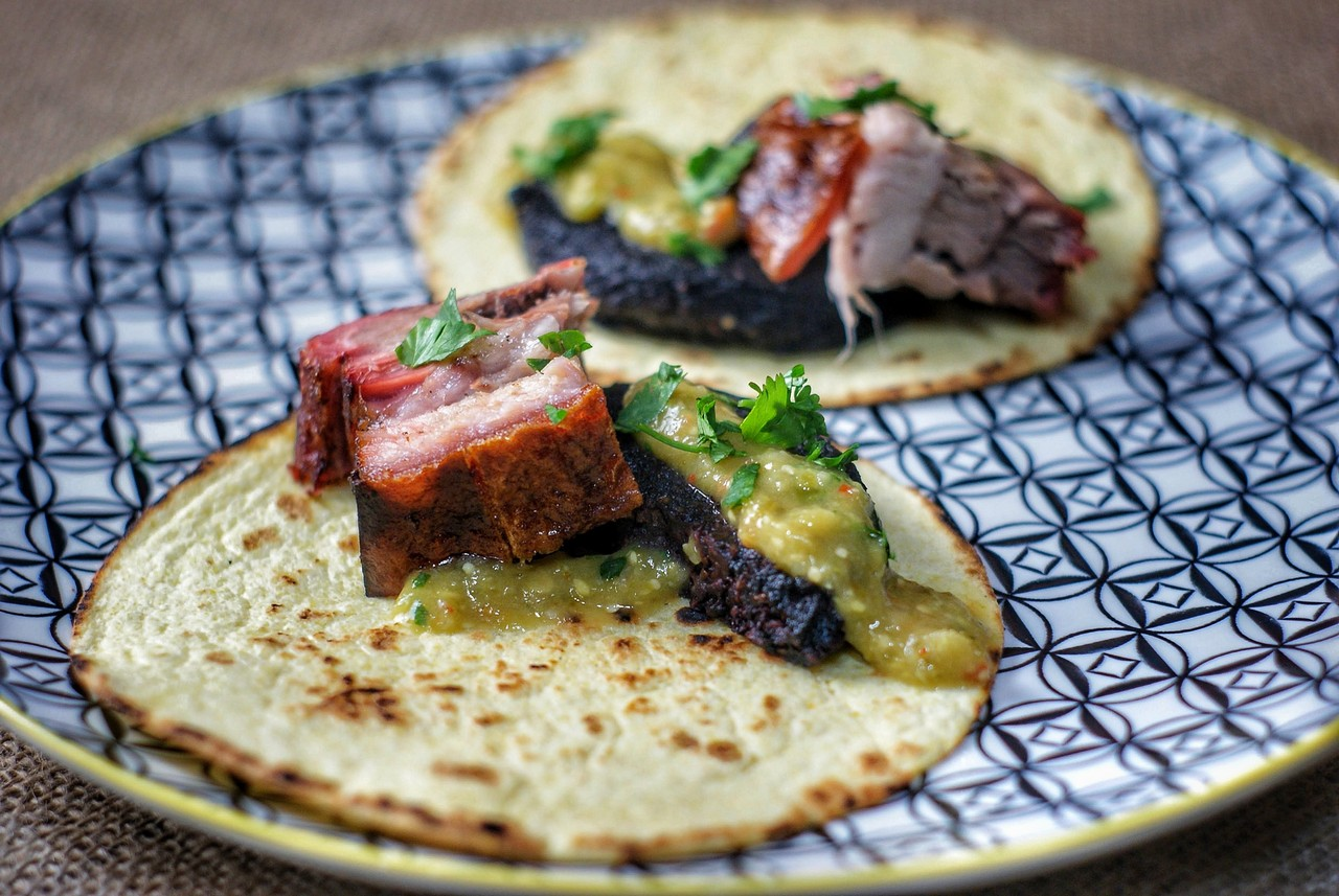 040/18: Pork Belly and Black Pudding Taco