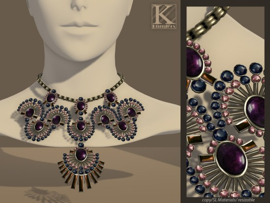 (Kunglers) Shani necklace - amethyst