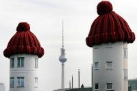 毛糸帽かぶった建物 in ベルリン