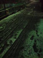 雪でぐちゃぐちゃな帰り道