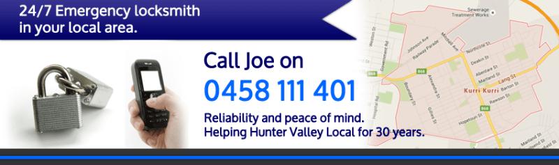 Kurri Locksmith Hunter Valley NSW - Call Joe 0458111401