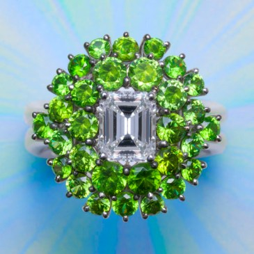 Diamond/Demantoid Ring AT168