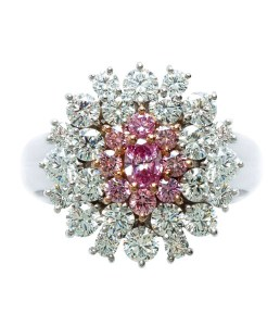 Vivid Purplish Pink Diamond Ring AT191