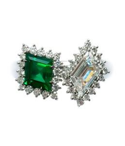 Zambian Emerald / Diamond Ring BC6348