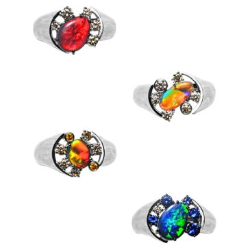 Black Opal Concept Ring