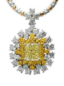 Yellow Diamond Pendant AT196