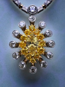 Yellow Diamond Pendant BC6081