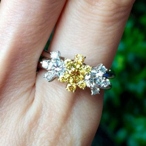 Vivid Yellow Diamond Ring