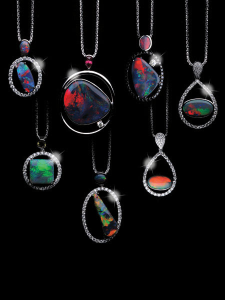 Black Opal Pendants