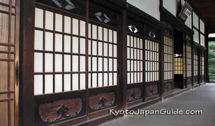 Carved shoji screen doors