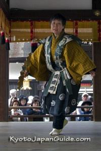 Shimogamo Shrine woman performer