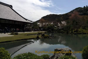 Tenryu-ji and pond 083