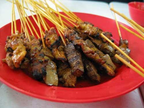 Melaka Pork satay at Kedai Satay Xiang Ji