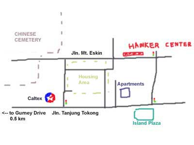 map of Mount Eskin, Penang
