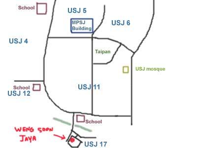 猪肚汤 pork tripe soup at USJ map