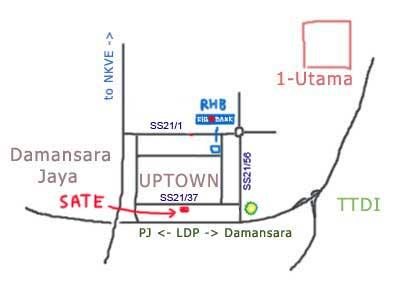 map to Sate Kajang Haji Samuri at Damansara Uptown