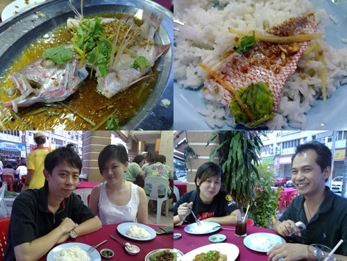 KY, Eiling, Carol, and Horng at 88 Seafood Resataurant