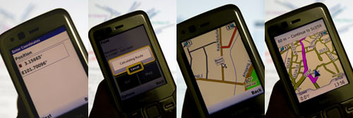 Nokia N82 with Garmin GPS Software