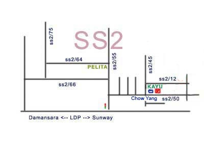 map to chow yang, PJ ss2