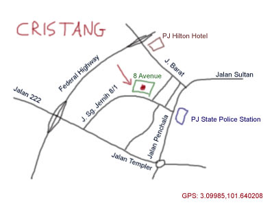 map to Cristang Restaurant