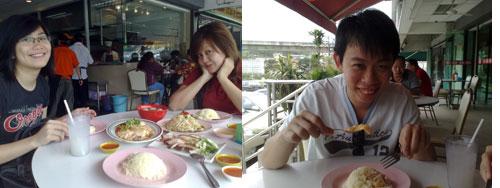 rachel, kerol, KY at ipoh chicken rice, jalan gasing
