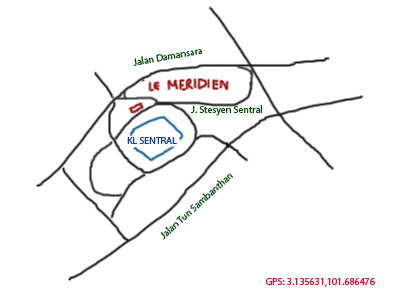 map to Le Meridien at KL Sentral