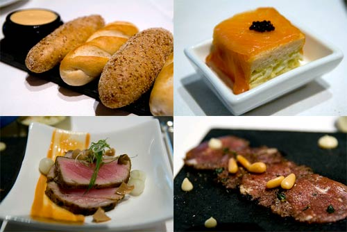 mini loaf, appertizers, seared tuna, salmon