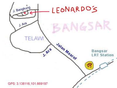 map to Leonardo's Dining Room