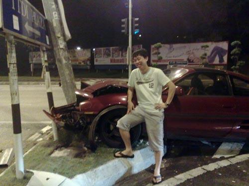 Toyota MR2 Accident
