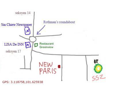 map to restaurant new paris