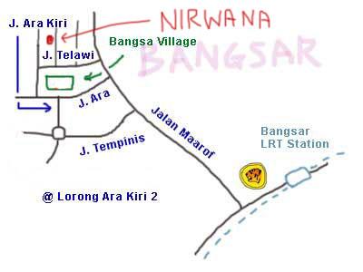 Map to Sri Nirwana Maju at Bangsar