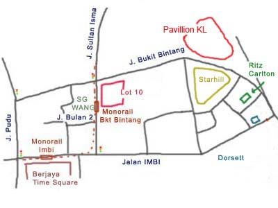 map to Pavilion KL