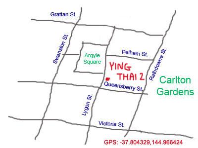 map to Ying Thai 2 at Lygon Street