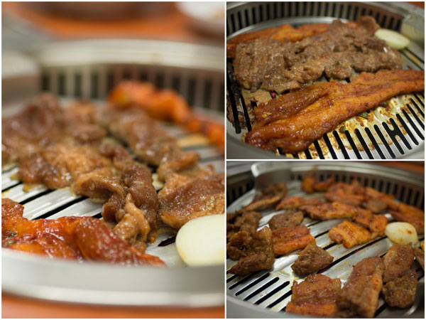 grilled meat, the main stay of any Korean BBQ restaurant