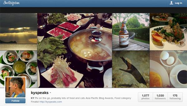 KY instagram screenshot
