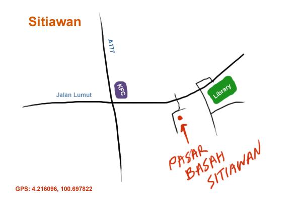 direction to Sitiawan wet market