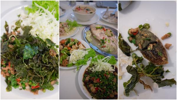 Kai Yeaw Ma Khra Prao Grob (fried century egg)