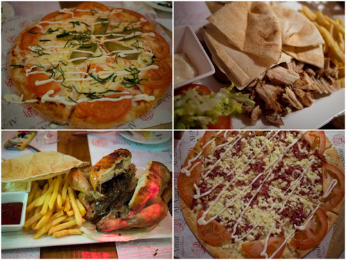 Lebanese pizzas, shawarma and flame grilled chicken