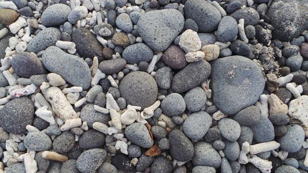 pebble beach at Anilao