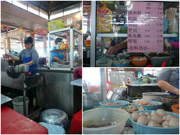 the pork noodle stall is one of the busiest around here